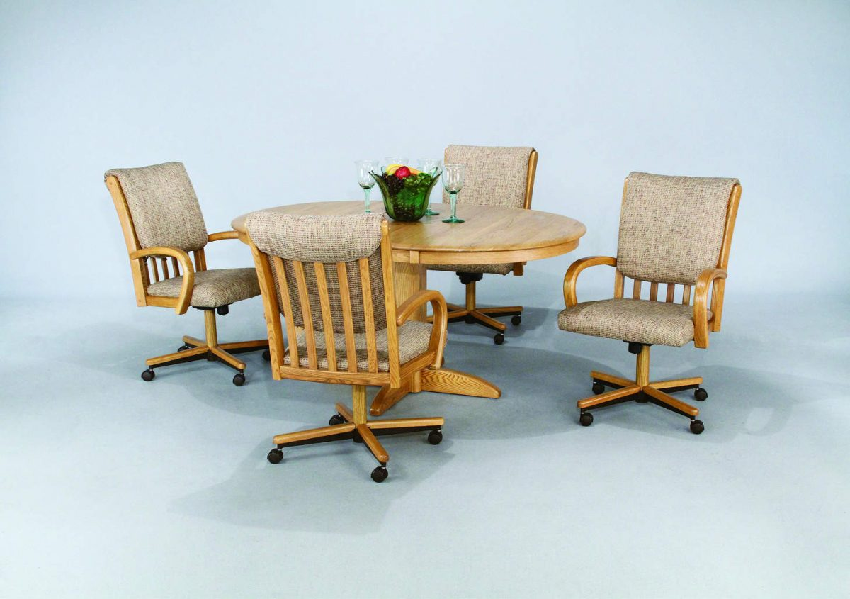 dinettes kitchen chairs with rollers Dinette set with roller chairs