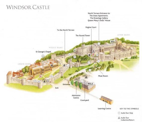 map of Windsor from the brochure you get when you visit