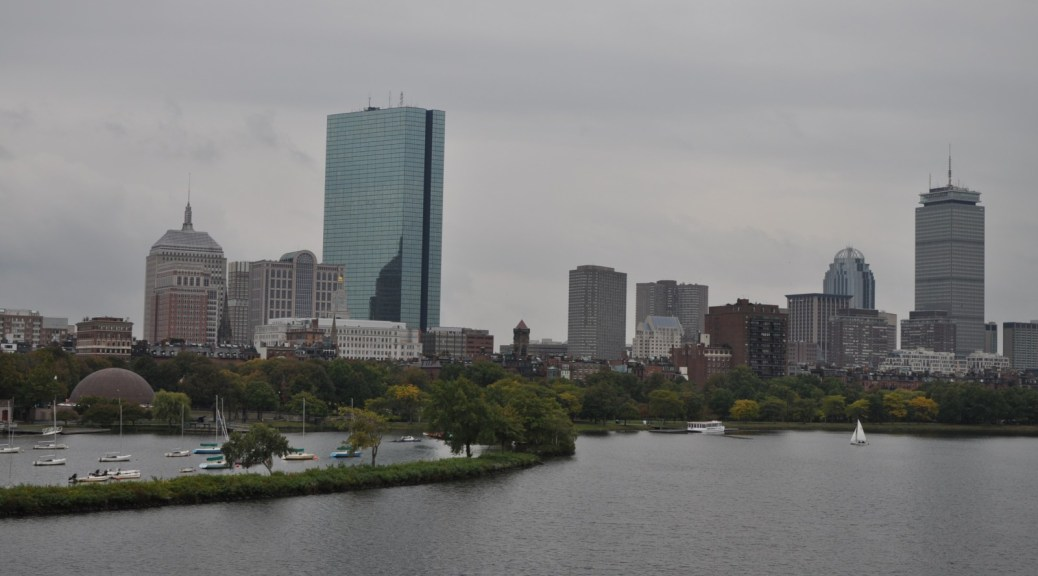 skyline of Boston, MA