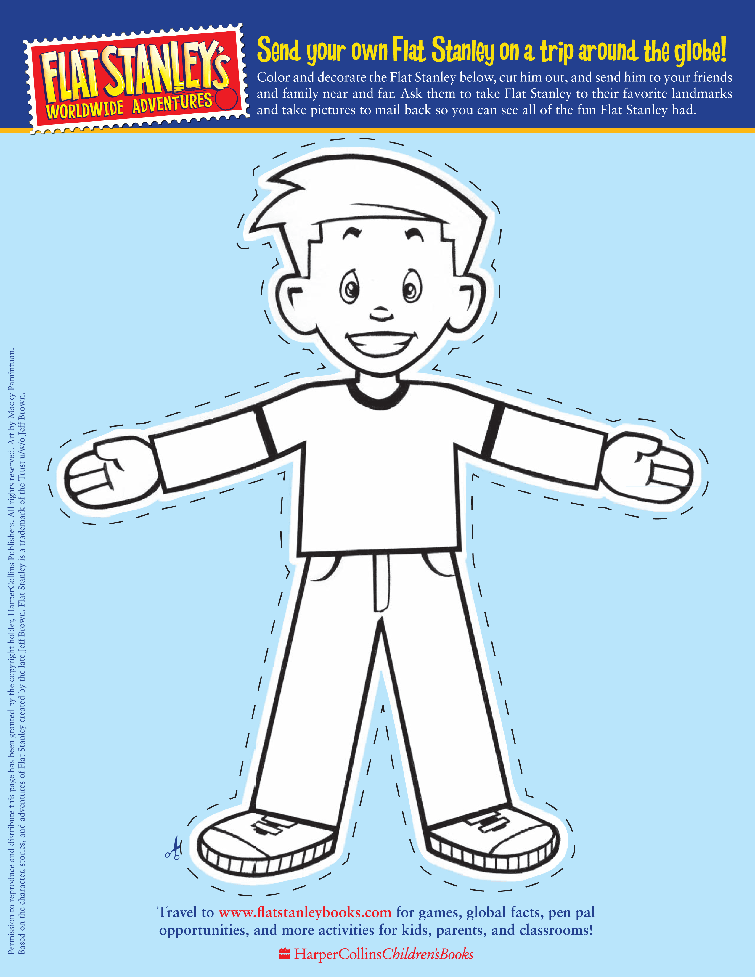 picture relating to Flat Stanley Printable Templates known as Flat Stanleys template towards the Flat Stanley Guides web-site