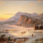 Winter Landscape, North Conway, New Hampshire, Jasper Francis Cropsey, 1859