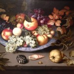 Still Life of Fruit on a Kraak Porcelain Dish, Balthasar van der Ast, 1617