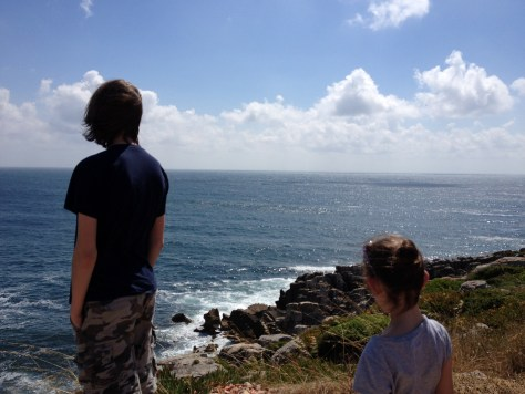 Stopping to look at a pretty landscape is probably the least favorite activity for our kids while we travel. They did not appreciate the gorgeous views from the rocky Peniche coast in Portugal.