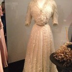 1900s day dress with hand crocheted flowers