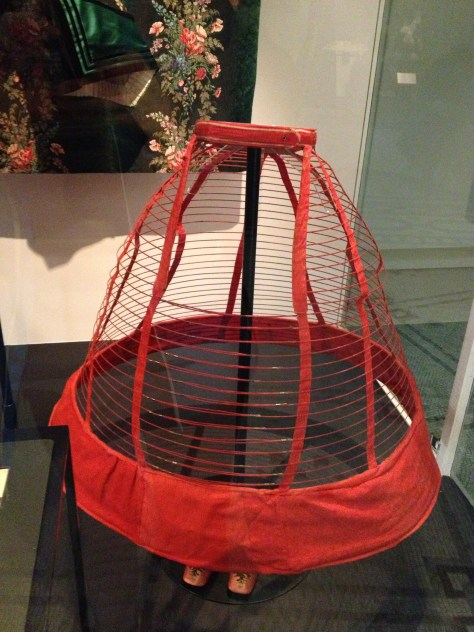 "crinoline cage from the 1860s, marked ""A Favorite of the Empress"""