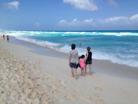 Beach by the Royal Mayan hotel in Cancun, Mexico