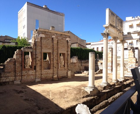Portico of the Roman Forum in Merida, Spain