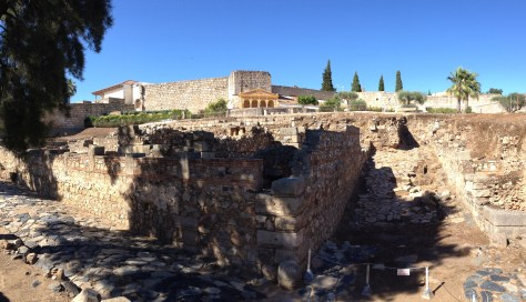 Alcazaba, the Arab fort in Merida, Spain