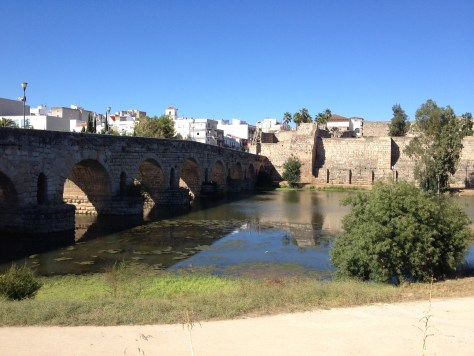 Puente Romano, Roman Bridge in Mérida , Spain