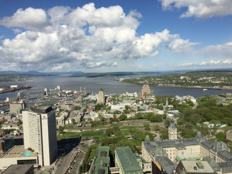 view of the Old Quebec from the Observatoire de la Capitale