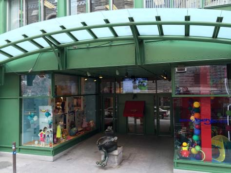 entrance to the Benjo Toy Store