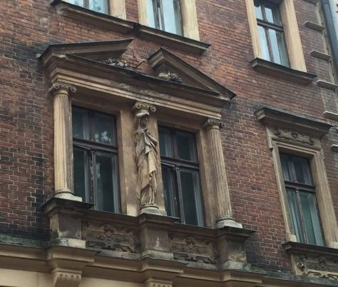 beautiful details adorning the buildings in the Old Town of Krakow