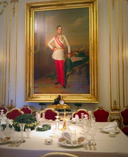 Portrait of the Emperor Franz Joseph in the Marie Antoinette room (family dining room)