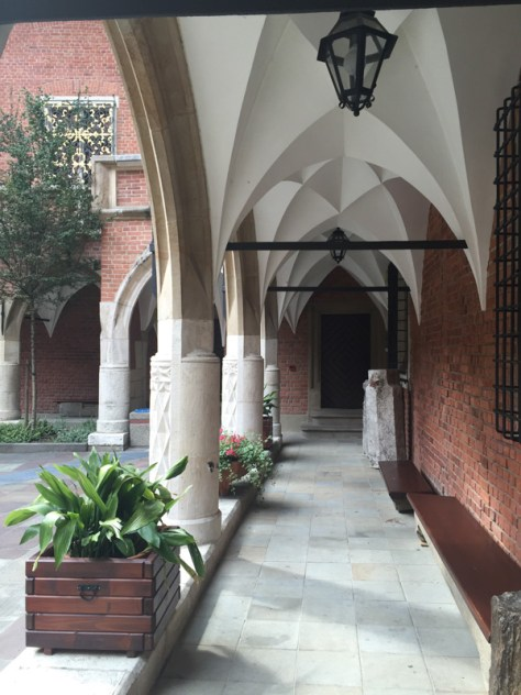 arcades flanking the courtyard of Collegium Maius, the museum of Jagiellonian University