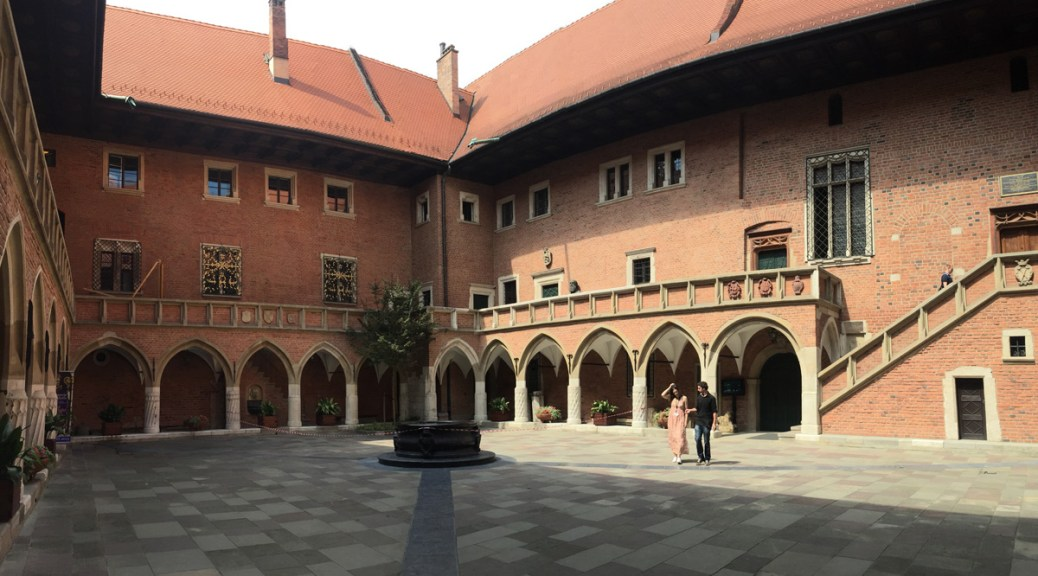 courtyard of Collegium Maius, the museum of Jagiellonian University