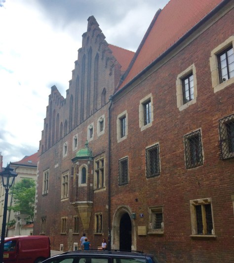 entrance to Collegium Maius, the museum of Jagiellonian University