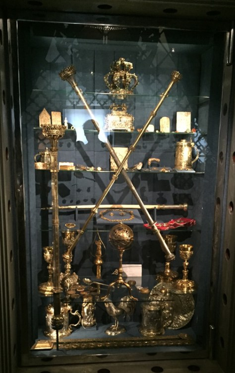 Queen Jadwiga's scepter from early 1400s and Cardinal Zbigniew Olesnicki scepter from mid 15th century