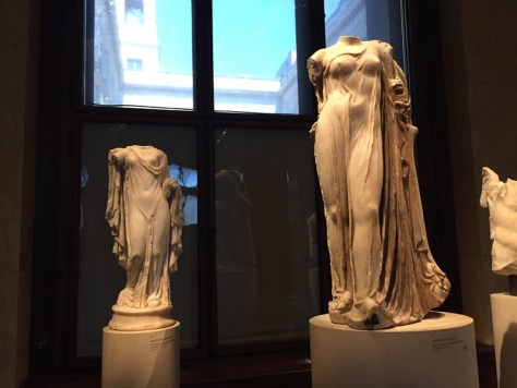 a collection of Aphrodite statues in the Greek section