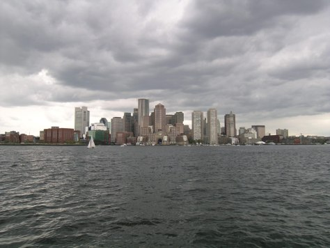 Boston from the public ferry running between Boston Long Wharf North and the Boston Harbor Islands