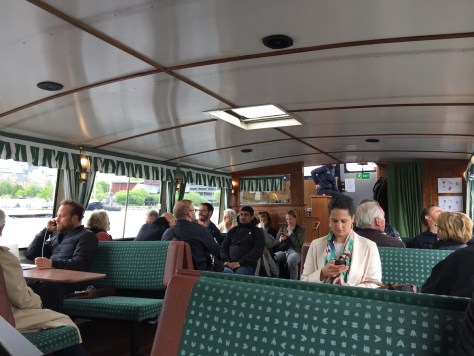 inside view of the Stockholm shuttle ferry (on route 80)
