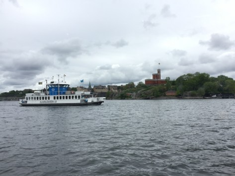 view of another SL ferry in Stockholm