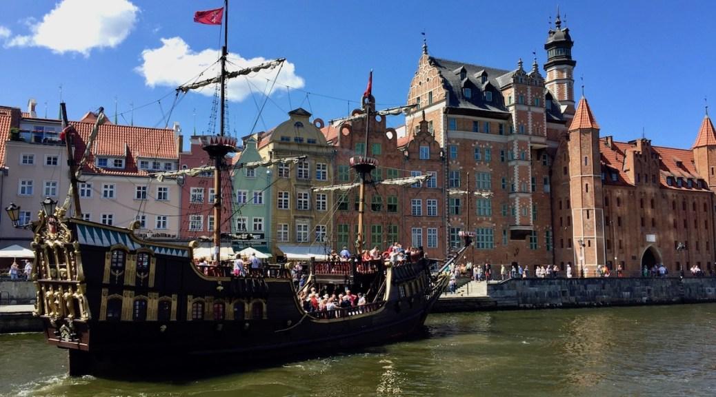 Długie Pobrzeże = the Long Strand in Gdańsk, Poland