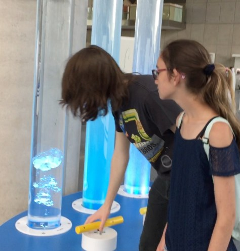 learning about viscosity = making bubbles at the Experiment Science Centre (Centrum Nauki Experyment) in Gdynia, Poland