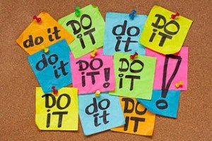 Post-It Notes saying, Do it!