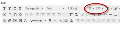 create list in Content Editor