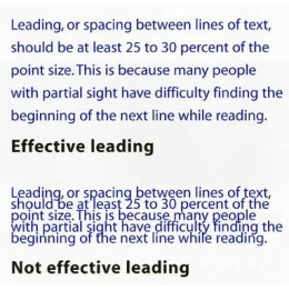 image showing leading that is effective and leading that is not effective