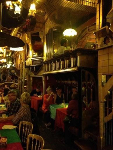 sarastro camarote restaurantes em Londres de decoração peculiar