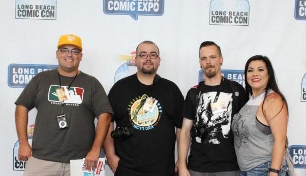 Jason T. Smith, Nolan P. Smith, Jason R. Smith and DimSumHottie at the Long Beach Comic Con 2015.