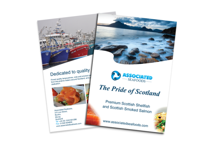 Associated Seafoods leaflet