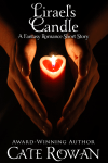 Book cover for Lirael's Candle: A Fantasy Romance Short Story by Cate Rowan, available on Facebook