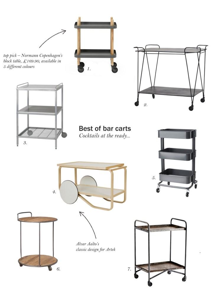 best of bar carts