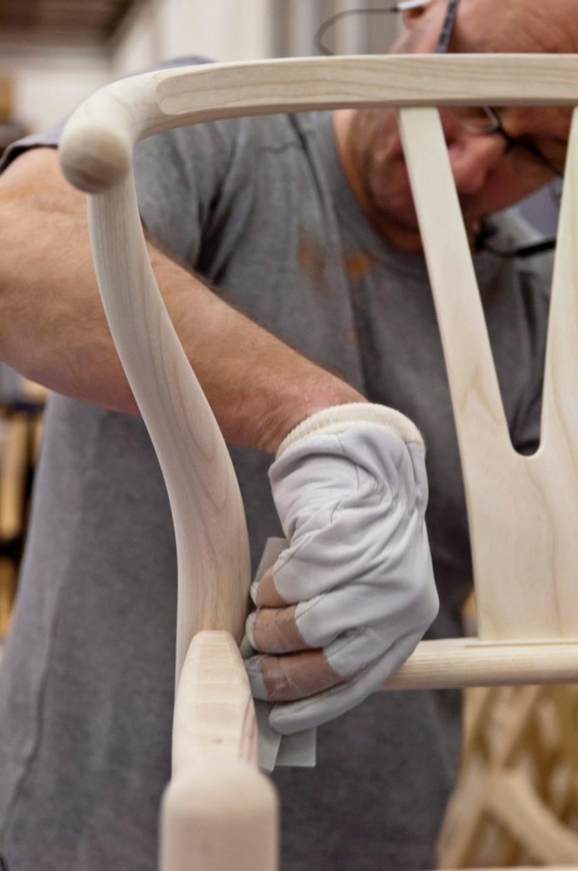 Hans J. Wegner's original Wishbone chair, CH24, expertly crafted in Denmark by Carl Hansen & Søns