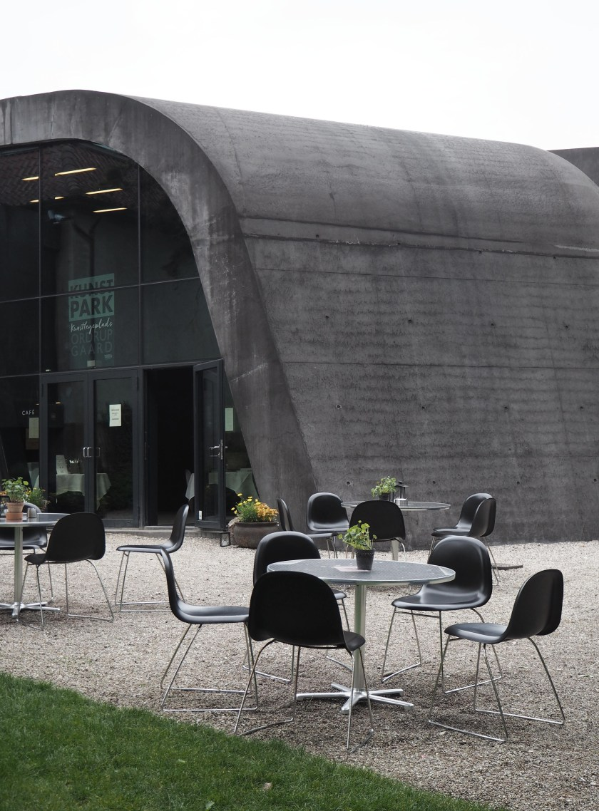 Zaha Hadid's Ordrupgaard museum, just outside of Copenhagen