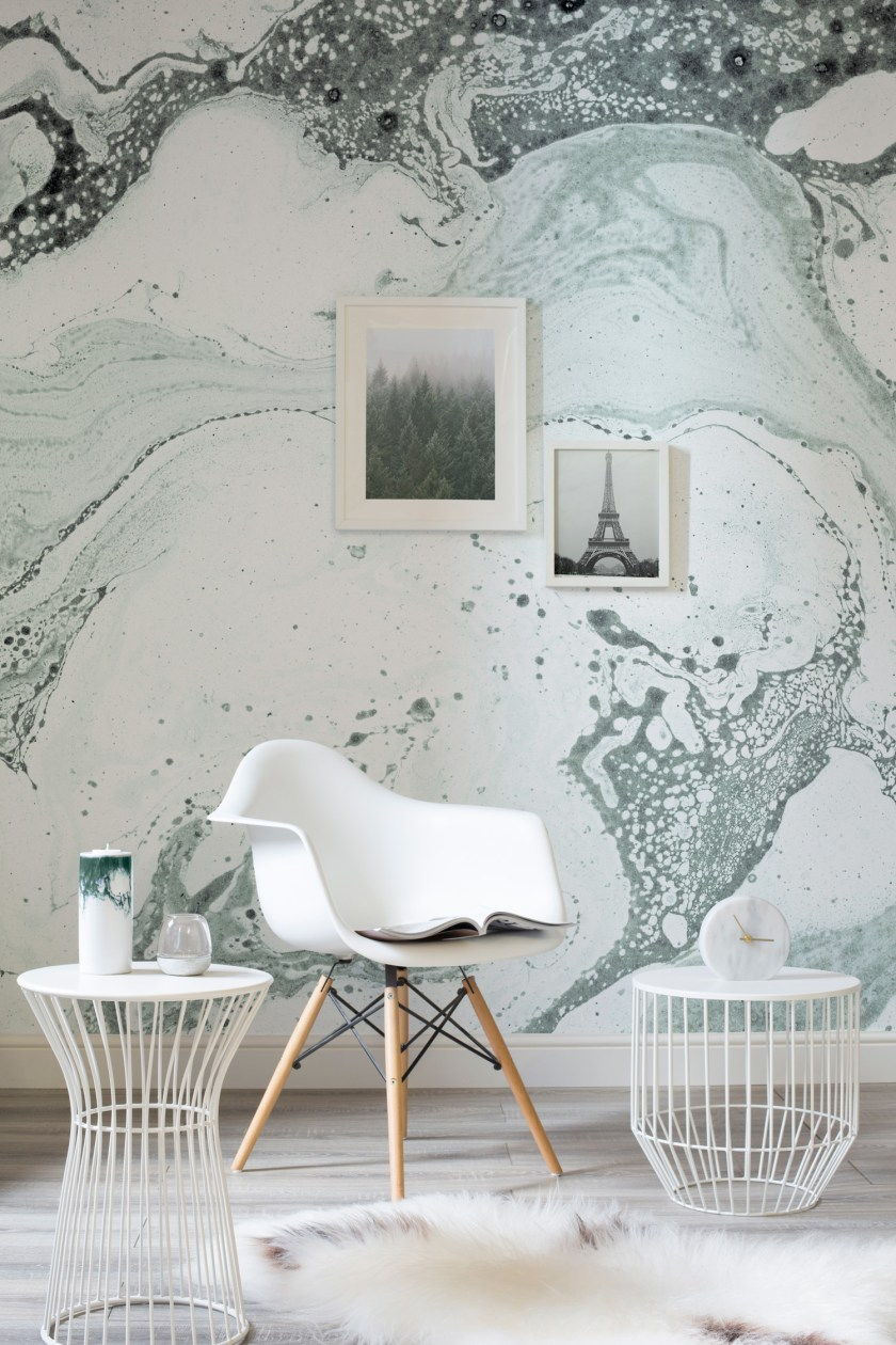 Marbled wallpaper by Mural Wallpapers