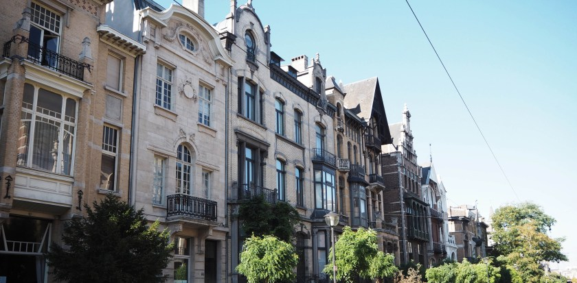 Cogels Osylei, a beautiful art nouveau street in Antwerp