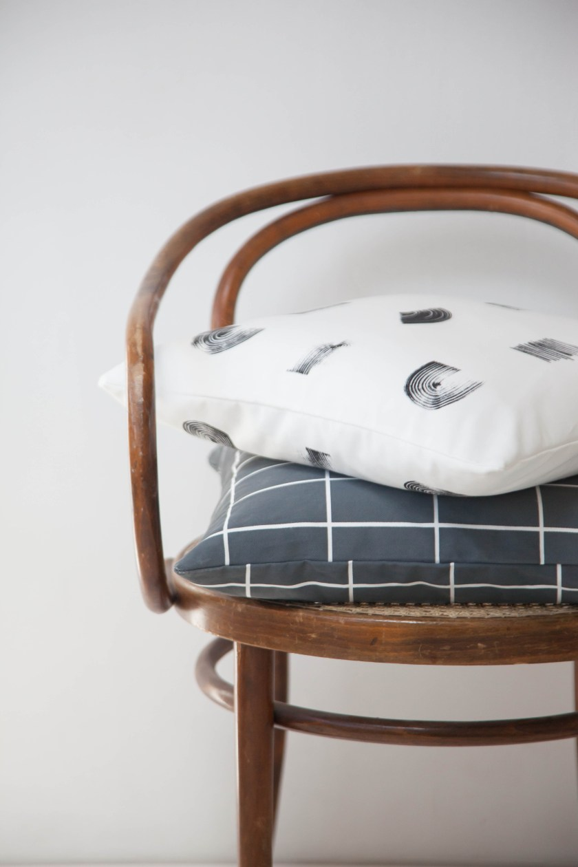 Line and Gleam cushions by Studio Lilesadi