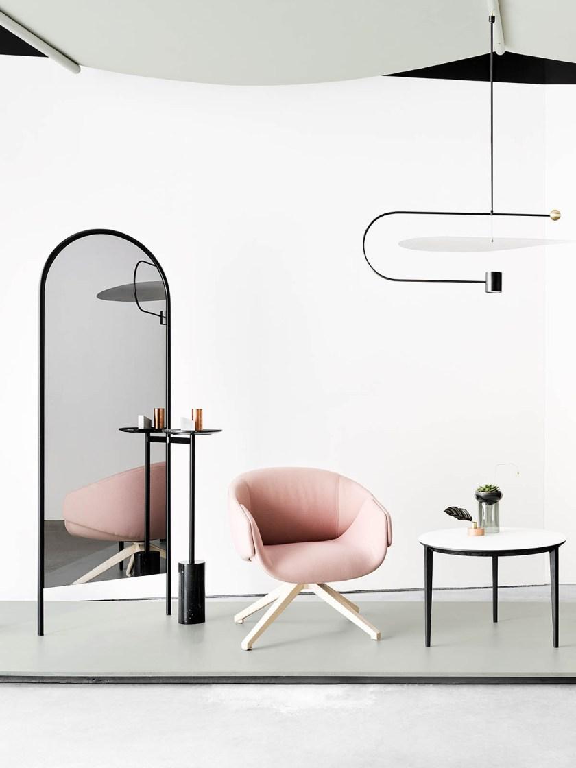 Introducing Australian design brand SP01 - minimal design - contemporary furniture - pink armchair
