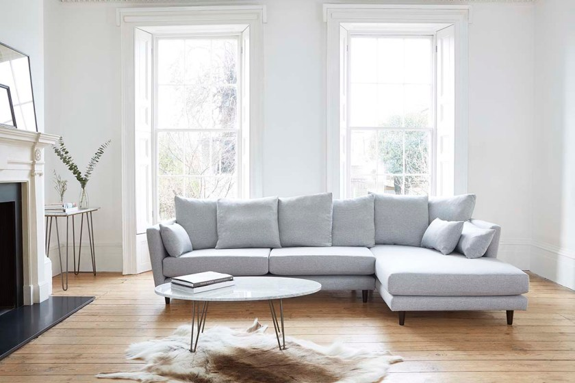 Tips for choosing a sofa to suit your home - Amy Chaise Sofa by Darlings of Chelsea