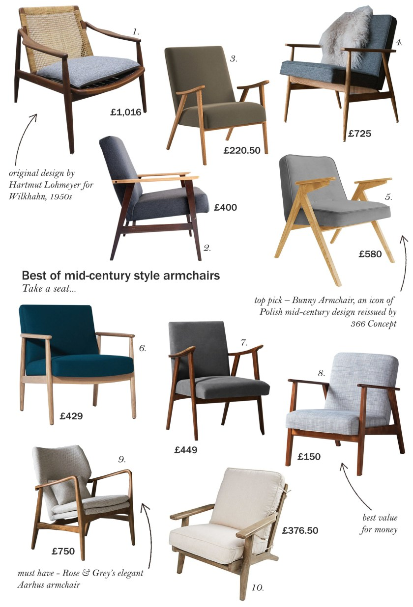 best of mid century armchairs