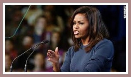 CNN had this picture of Michelle Obama speaking out on Thursday