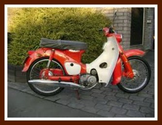 Honda 50 like the one Roger had in Lagos