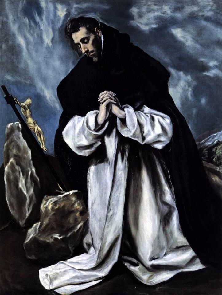 El_Greco,_St_Dominic_in_Prayer Public Domain Image