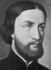 detail of a painting of Saint François-Isidore Gagelin; mid 19th-century, artist unknown; photographed by PHGCOM; swiped from Wikimedia Commons