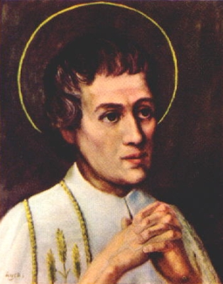 Saint Louis-Marie Grignion de Montfort holy card, date and artist unknown