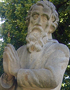 detail of a statue of Saint Andreas Svorad, Nitra, Slovak Republic; taken on 28 June 2011 by Kenad; swiped off the Wikipedia web site