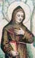 detail of antique holy card of Blessed Archangelus Piacentini